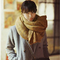 Autumn Winter Ladies Thick Warm Knitted Couples Scarf Collar Motley Mixed Color