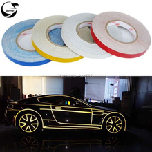 45M*1CM Car Styling Reflective Tape Funny DIY Stickers Warning Safety Auto Motorcycle Bike Decal Body 3M Cover Decoration Strip(China (Mainland))
