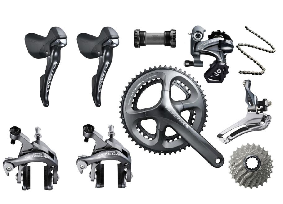 Велосипедная рама 11 speed172.5mm/170 ultegra 6800 groupset 53/39 50/34T 11/28/11/25