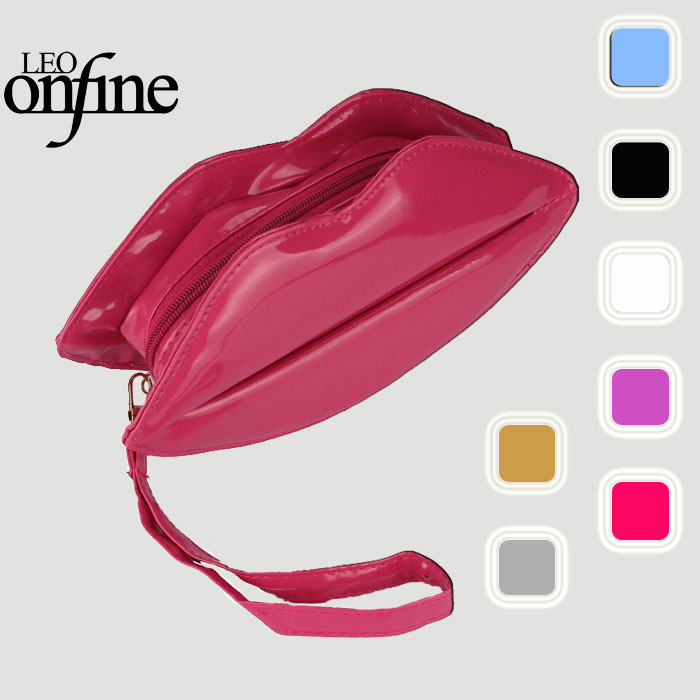 Onfine Leo 2015 New Women Lady Big Lips Evening Party Clutch Shoulder Hand Bag Purse Whloesale(China (Mainland))