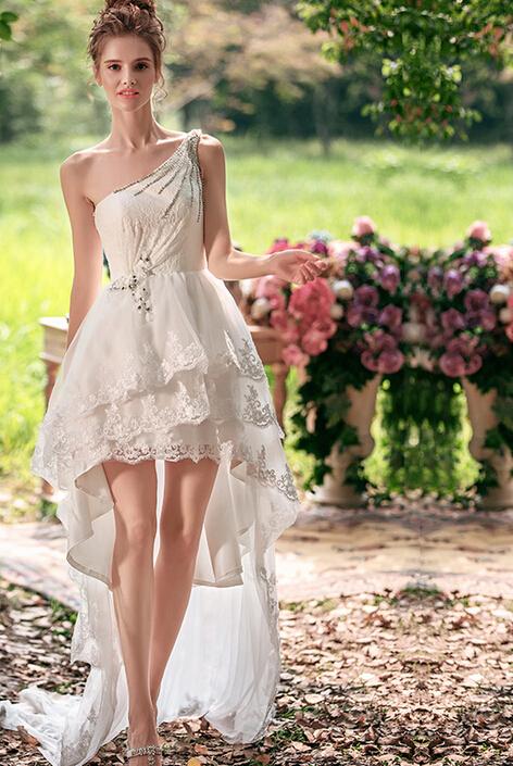 Online get cheap short casual wedding dresses beach for Short casual beach wedding dresses