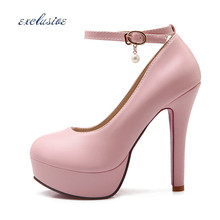 Buckle Strap Thin Heels Pumps Latest Sexy Red Sole Large Size EUR 32cm-46cm Shoes Black Beige Pink Handcrafted 12.5 cm Pumps