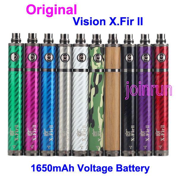 Original E Cigarette Vision X Fir 2 II 1600mAh Voltage Battery Twist Fit Ego 510 Thread