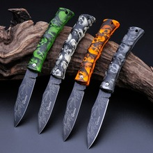 So Cool !!! Mini Fruit knife,Camping Survival Blade Folding Pocket Knife, ABS Ghost Handle Beautiful Gift Knife(China (Mainland))