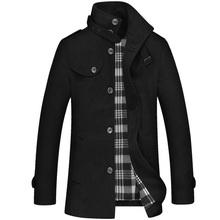 2016 New Fashion British Style Trench Coat Men Slim Fit Winter Overcoat Epaulet Windbreaker Jacket Men's Jacket Black Grey(China (Mainland))