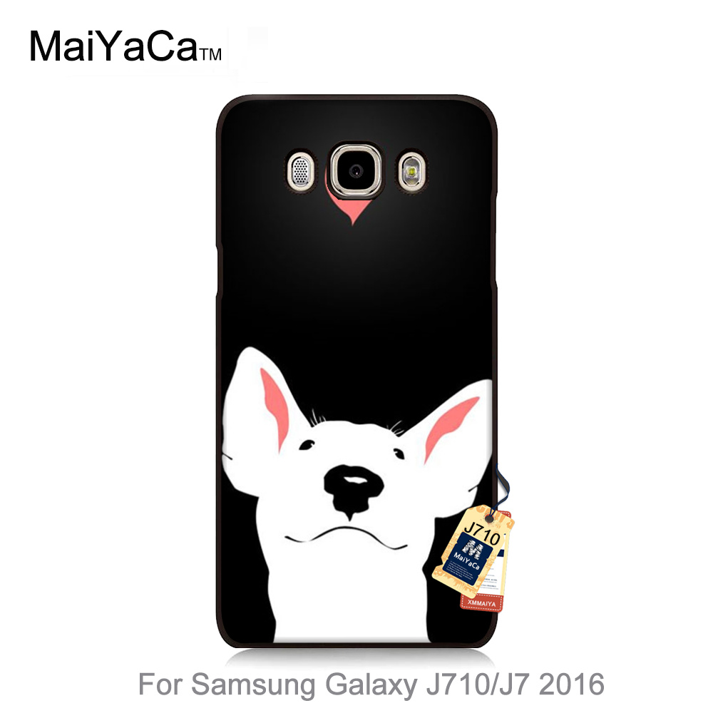 bull terrier dog puppies Durable case for galaxy J710 Fashion Colorful phone Accessories case