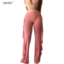 Buy Julissa Mo 2016 New Women Wide Leg Pants Casual Ladies Loose Trousers Sexy Mesh High Waist Long Harem Party Women Pants for $9.49 in AliExpress store