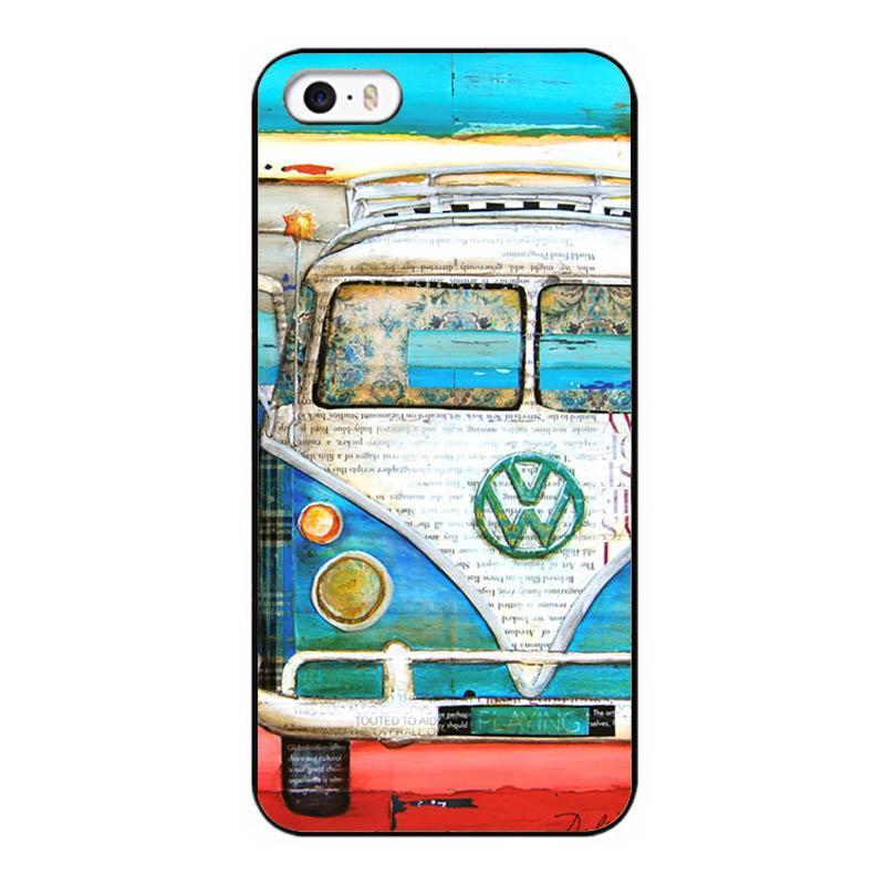 Car Vintage Volkswagen VW Van Bus New Design Case For iPhone 5 5S UV Hard Back Cover(China (Mainland))