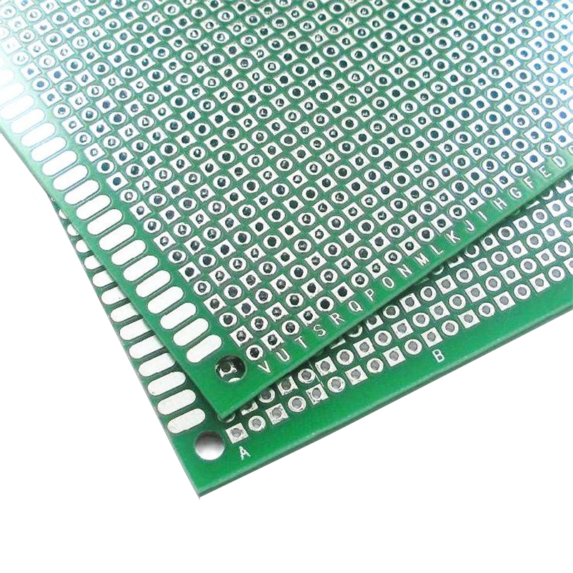 8x12cm Double Side Board DIY Prototype Paper PCB thickness 1.6mm universal plate brassboard Glass fiber spray tin Good Quality(China (Mainland))