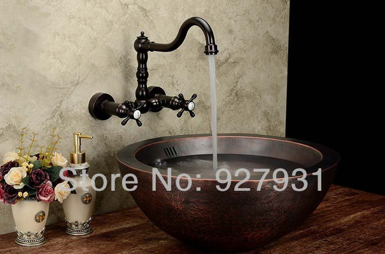 New Oil Rubbed Bronze Bathroom Faucet Vessel Sink Lavatory: New High End Wall Mounted Bathroom Sink Faucet Oil Rubbed
