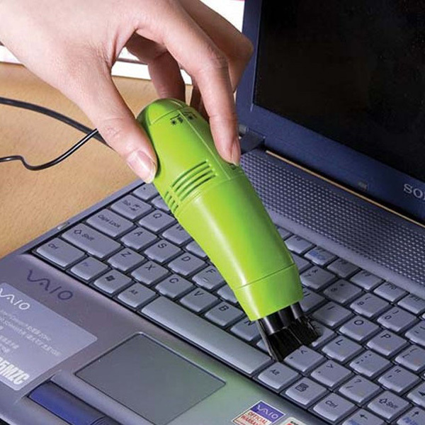 Mini Computer Laptop LED USB gadget Vacuum to Keyboard Cleaner Dust Collector tool for laptop pc computer JZ223(China (Mainland))