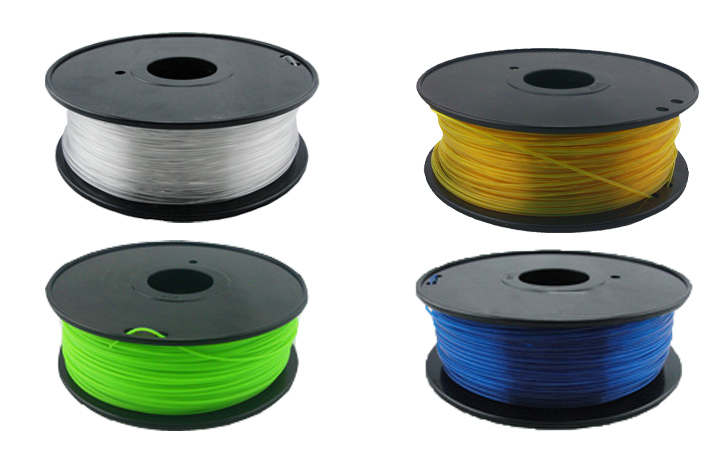 PETG 3d printer filaments 1.75mm/3mm 1kg Consumables Material for MakerBot/RepRap/UP/Mendel(China (Mainland))