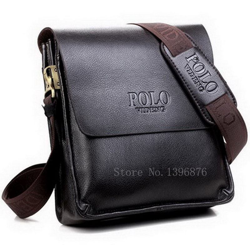 2015 Fashion Men's PU Leather Bag Over Shoulder Men Crossbody Bag Brand Casual Man Messenger Bag Black Brown Free Shipping(China (Mainland))