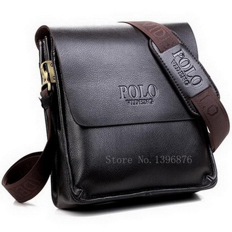 2015 Fashion Men's PU Leather Bag Over Shoulder Men Crossbody Bag Brand Casual Man Messenger Bag Black Brown Free Shipping(China (Mainland))