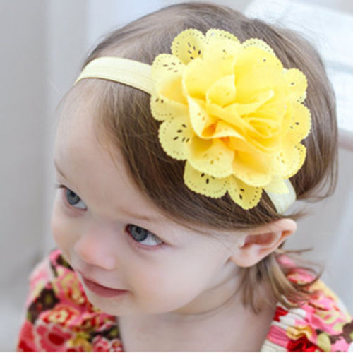 1PCS Hot Baby Toddler Girls Kids Flower Tiara Hair Band Flower Headband Headwear(China (Mainland))