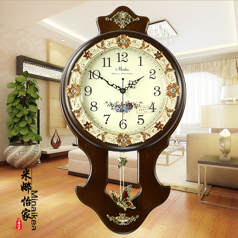 Popular antique wooden wall clocks with pendulum buy cheap for Where can i find cheap home decor