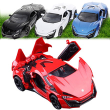 1:32 kids toys Fast & Furious 7 Lykan Hypersport Mini Auto metal toy cars model pull back car miniatures gifts for boys children(China (Mainland))