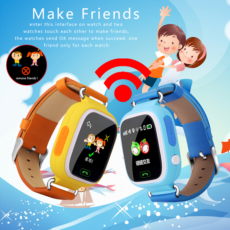 Little Giant Genius Kid GPS Tracker Smart Watch Colorful Wristwatch SOS Anti Lost Support GSM Compatibility Android&IOS Phone(China (Mainland))