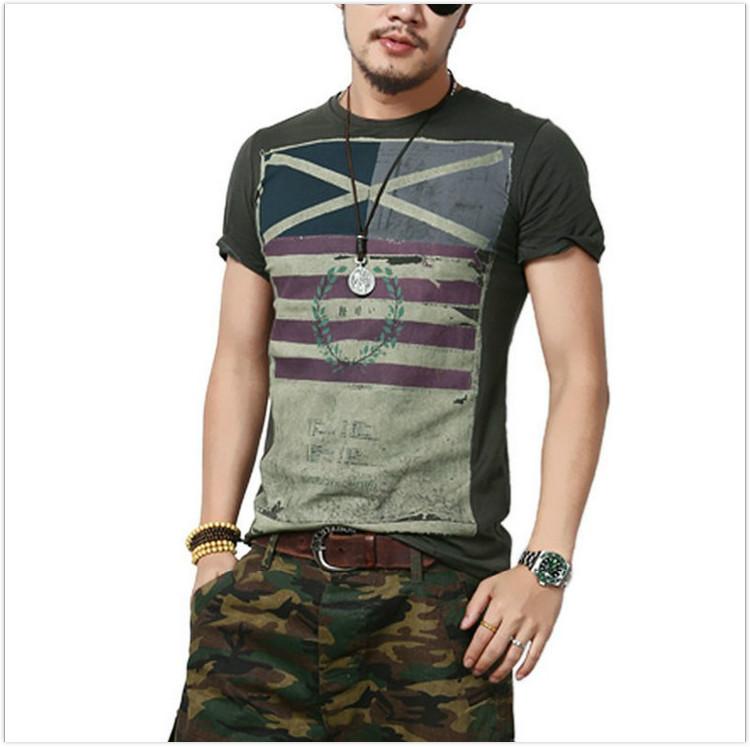 2016 t shirt men summer new retro print short sleeved tshirt homme fashion street casual t shirt. Black Bedroom Furniture Sets. Home Design Ideas