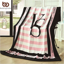 Pink VS Secret Blanket Manta Fleece Blanket Throws on Sofa/Bed/Plane Travel Plaids Hot Limited Battaniye 130cmx160cm(China (Mainland))