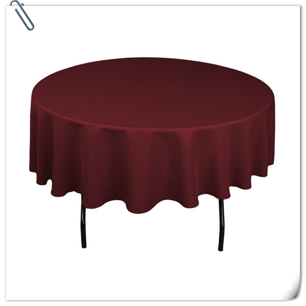 2015 New Style !! wholesale cheap polyester 70inch table cloths 20pcs burgundy tablecloths FREE SHIPPING(China (Mainland))