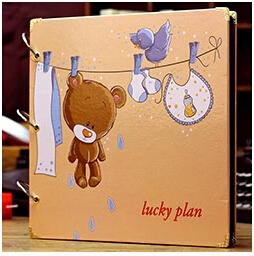 Free shipping DIY big size handmade photo album black card paste type personalized photo album baby grows photo album(China (Mainland))