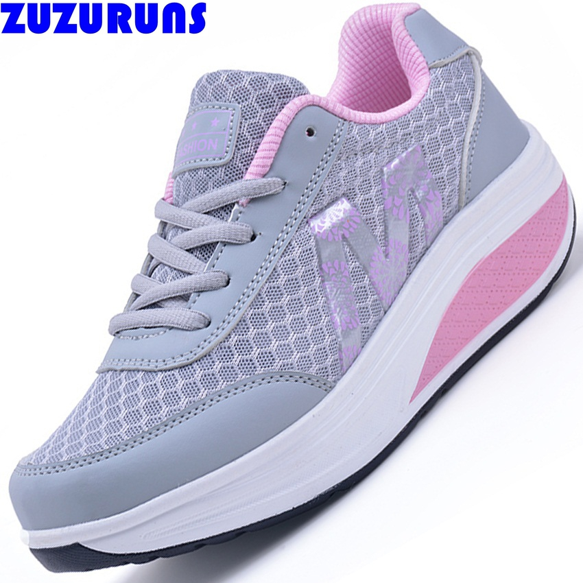women platform casual shoes female mesh swing platform ladies thick sole trainers shoes brand casual shoes women zapatos 19g5(China (Mainland))