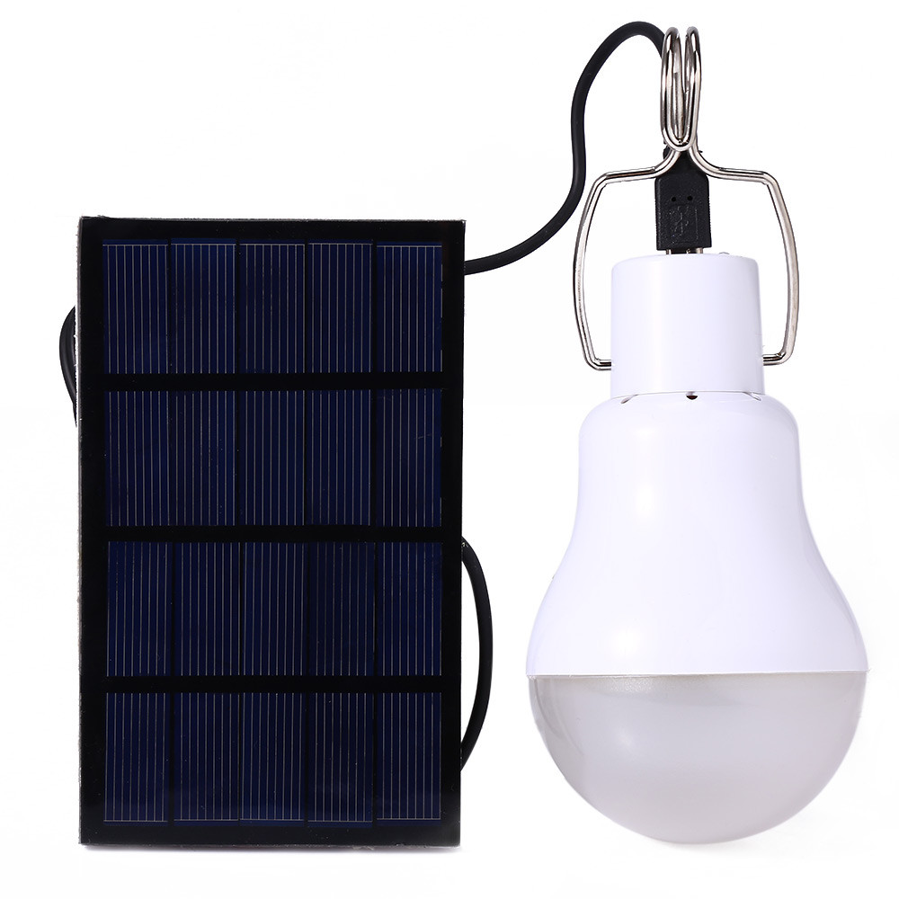 High Power Solar Lamps 5V LED Bulb 15W 130LM Portable Outdoor Camp Tent Night Fishing Hanging Light Charged Energy Led Lamp