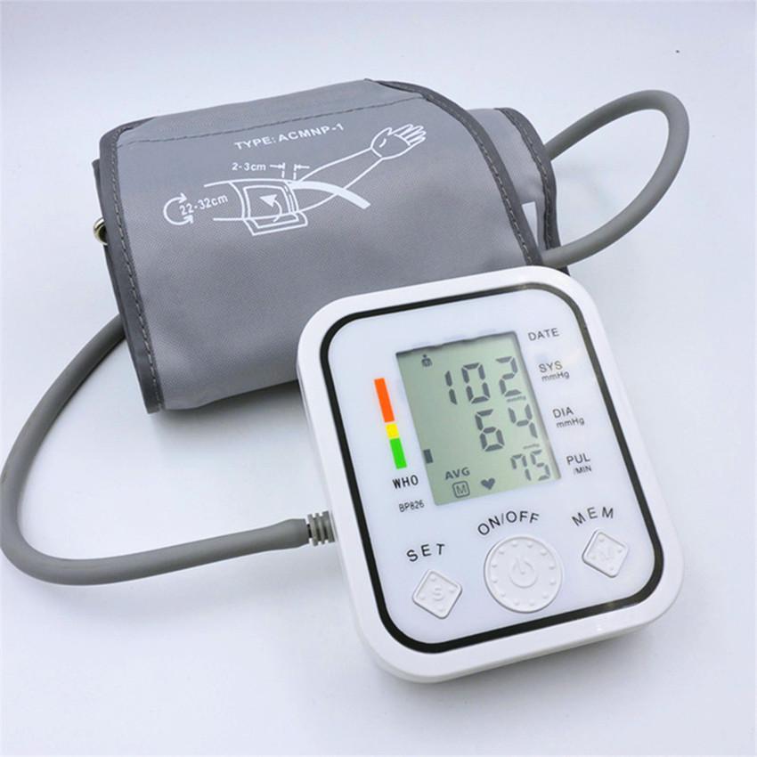 Full automatic upper arm blood pressure Monitors bp digital electronic sphygmomanometer tonometer Pulse heart rate monitor(China (Mainland))