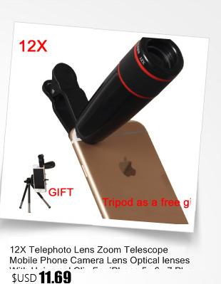 2016 Hot sale 6in1 Universal Mobile Phone Holder 12x Zoom Camera Telephoto Telescope Lens 3in1 Lens Fisheye Lenses for huawei