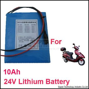 For electrical bike DC 24V lithium battery pack 10000 Mah capacity  10A 24V lithium battery 17V-25.2V output and 20A current