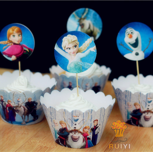 Kids birthday party decoration baby shower cupcake for Baby shower cupcake picks decoration