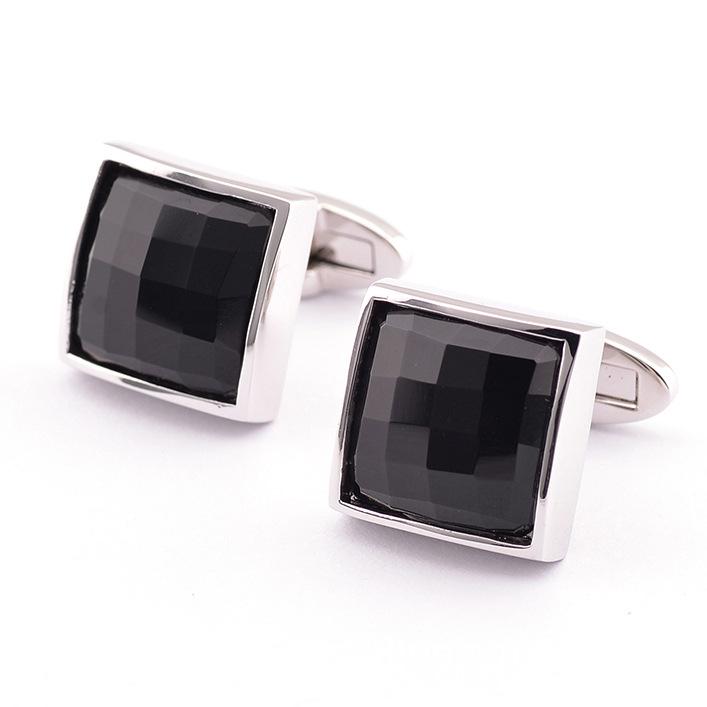 Platinum Onyx cufflinks new French cuff sleeve nailing men 990008(China (Mainland))