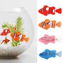 2017 Funny Swim Electronic Robofish Activated Battery Powered Robo Toy fish Robotic Pet for Fishing Tank Decorating Fish(China (Mainland))