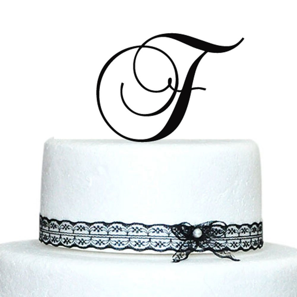 Initials Wedding Cake Topper Letter Cake TopperParty Decoration For Party ABCDEFGHIJ