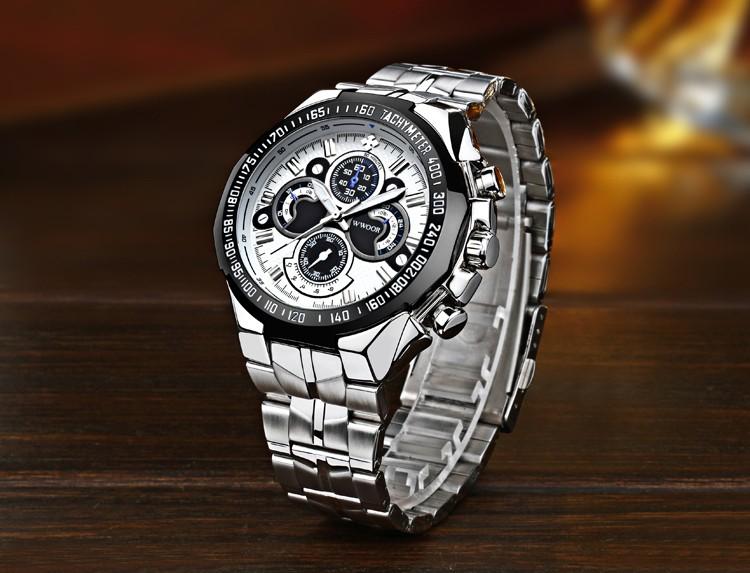 hommes grosse montre marque de luxe en acier bande horloge arm e militaire sport hommes montres. Black Bedroom Furniture Sets. Home Design Ideas