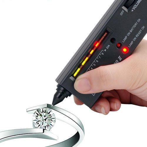 1pc Jeweler Diamond Tool Kit Portable Pen Hardness identification Mini Tester Black E1342(China (Mainland))