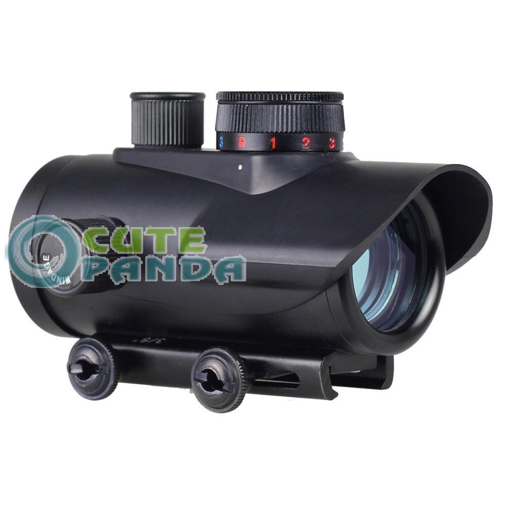 Гаджет  New Tactical Holographic 30mm Red Green Blue Dot Sight Rifle Scope 20mm W/ Mount  free shipping None Спорт и развлечения
