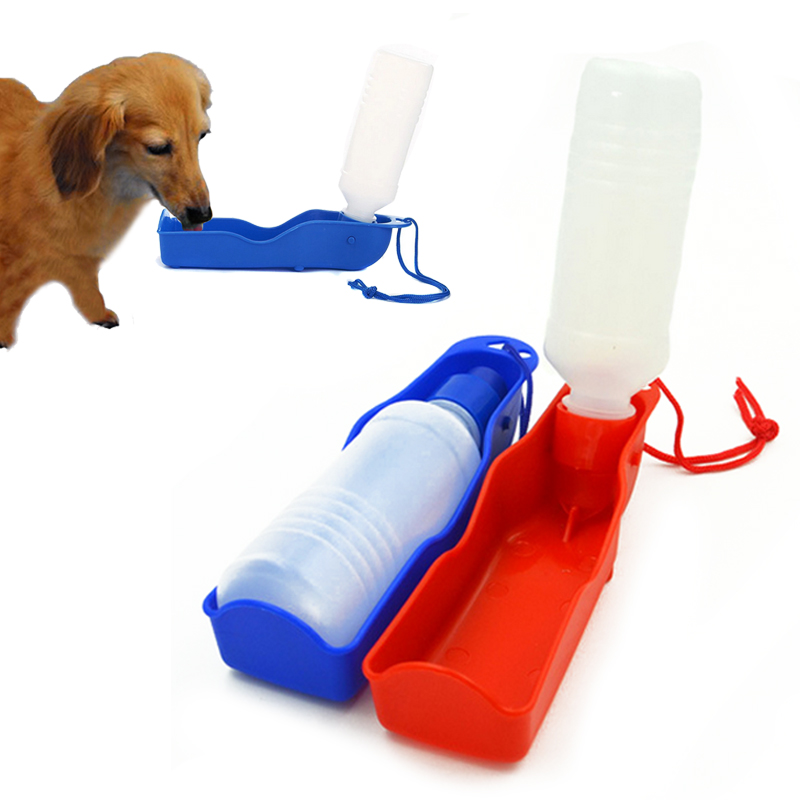 250ml Hot Outdoor Portable Pet Dog Feeding Bottles Watering Storage for Outdoor Traveling Pet Supplies(China (Mainland))