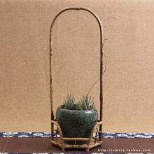 High-grade bamboo Merlot cool shelf rack tea stove grate Zizhu tea incense bamboo furniture Furnishings Exhibition