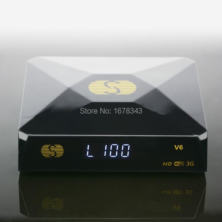 1PC Free Shipping Original Skybox V6 S-V6 Satellite Receiver/ TV Box Support 2 USB WEB TV Card Sharing Youtube(China (Mainland))
