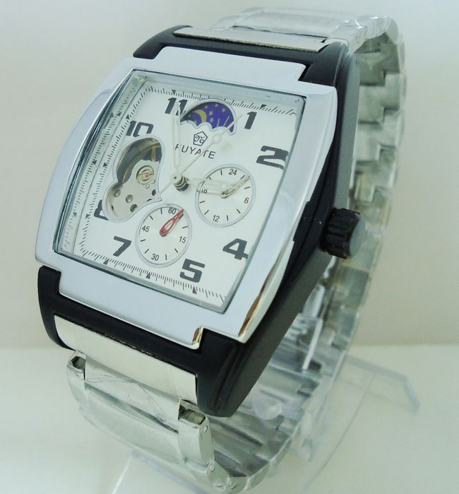 Fuyate square mechanical watch mens watch steel strip male fashion fully automatic j024 boys