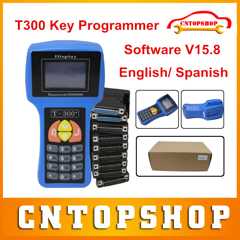 DHL Free Top Rated T 300 Auto Key Programmer T300 Latest Version V15.8 English/ Spanish Optional T 300 T-300 T Code Programmer(China (Mainland))