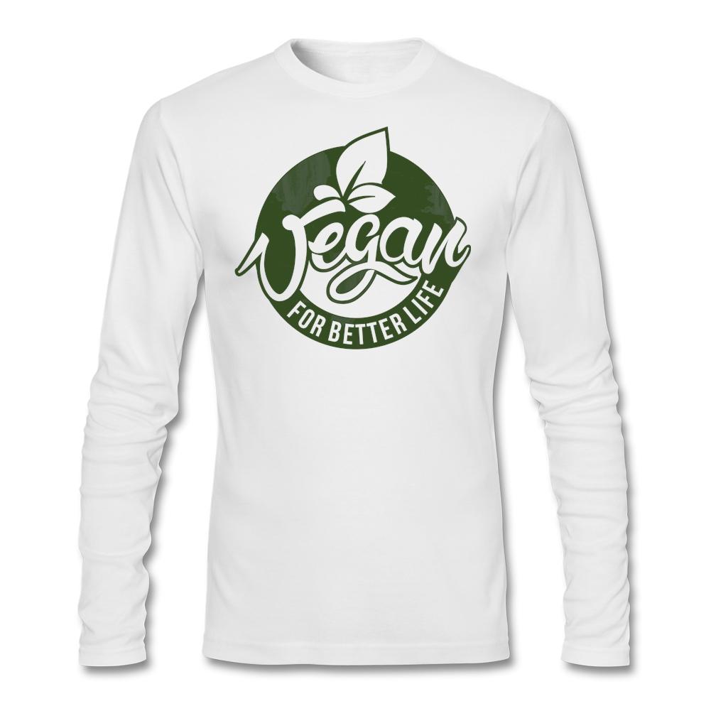 Men Autumn Long Sleeve Custom Undershirts American Vegan for better life Vegetarian Tshirt Men Hot Sale(China (Mainland))