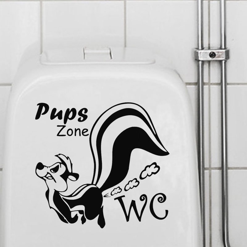 Pups Zone Farting Squirrel Wall Sticker Removable Vinyl