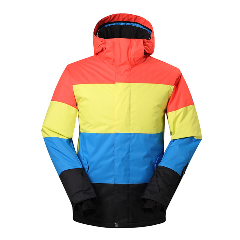 WINTER SPORT GEAR SKIING JACKET FOR MEN SNOWBOARDING COAT ON SALE WITH CHEAPER PRICE 2016 WATERPROOF AND WINDPROOF OUTERWEAR(China (Mainland))