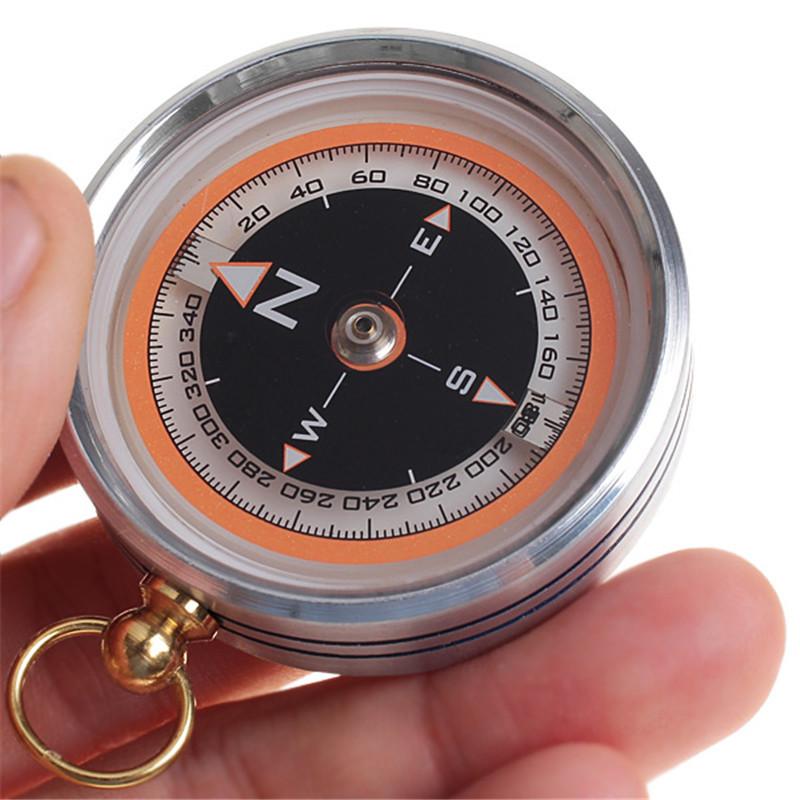 New Pocket Design Practical Portable Lensatic Compass for Outdoor Activites Random color(China (Mainland))