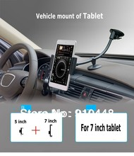 360 degree rotating Bracket navigation stents universal Car Mount holder for 7 to 8 inch tablet ipad mini 4 2 samsung asus acer(China (Mainland))