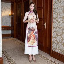 Buy New Arrival Fashion Satin Rayon Long Cheongsam Chinese Women's Dress Elegant Qipao Vestidos Size S M L XL XXL XXXL 27609A for $57.60 in AliExpress store