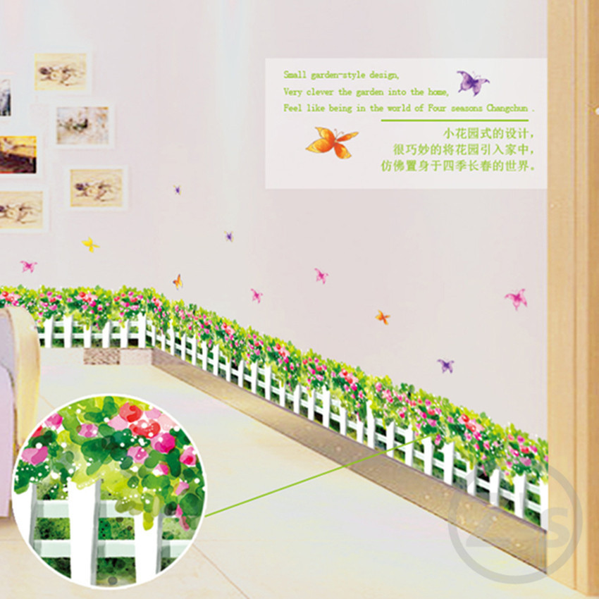 tulips large flower wall decals wall sticker home decoration diy adhesives art mural posters wallpaper AY7143(China (Mainland))